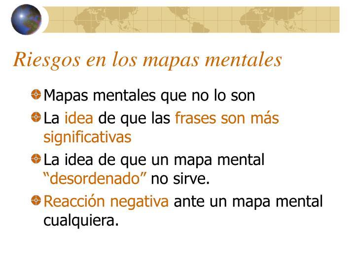 Riesgos en los mapas mentales