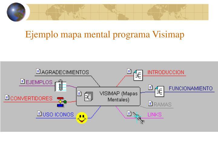 Ejemplo mapa mental programa Visimap