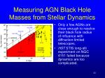 measuring agn black hole masses from stellar dynamics