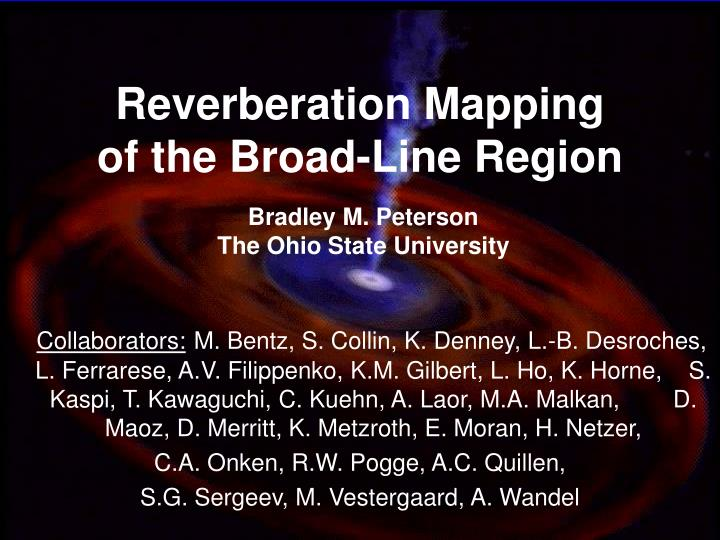 reverberation mapping of the broad line region