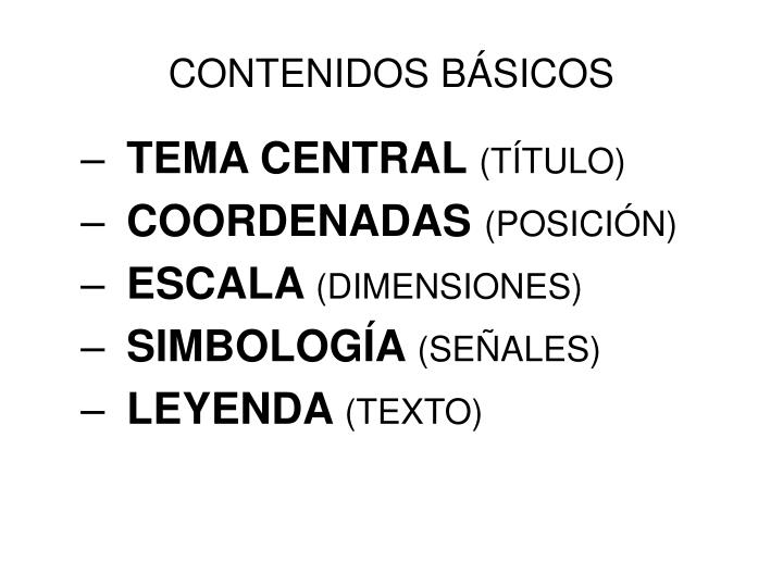 CONTENIDOS BÁSICOS
