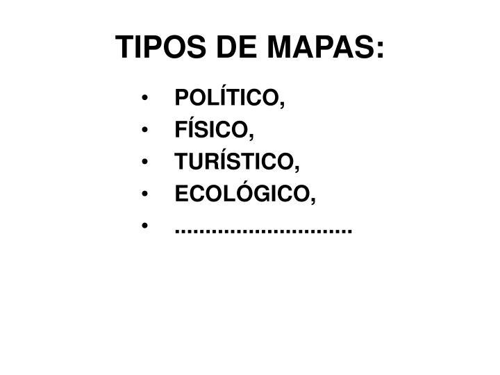 TIPOS DE MAPAS: