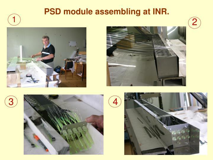 PSD module assembling at INR.