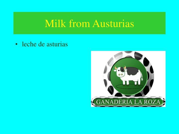 Milk from Austurias