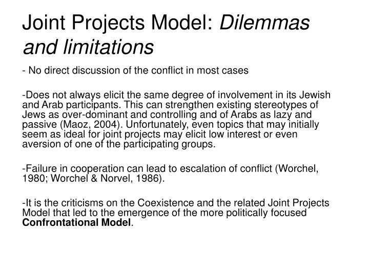 Joint Projects Model:
