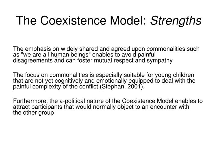 The Coexistence Model: