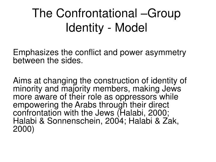The Confrontational –Group Identity - Model
