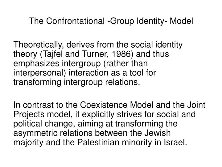 The Confrontational -Group Identity- Model