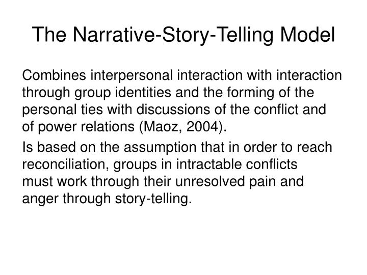 The Narrative-Story-Telling Model