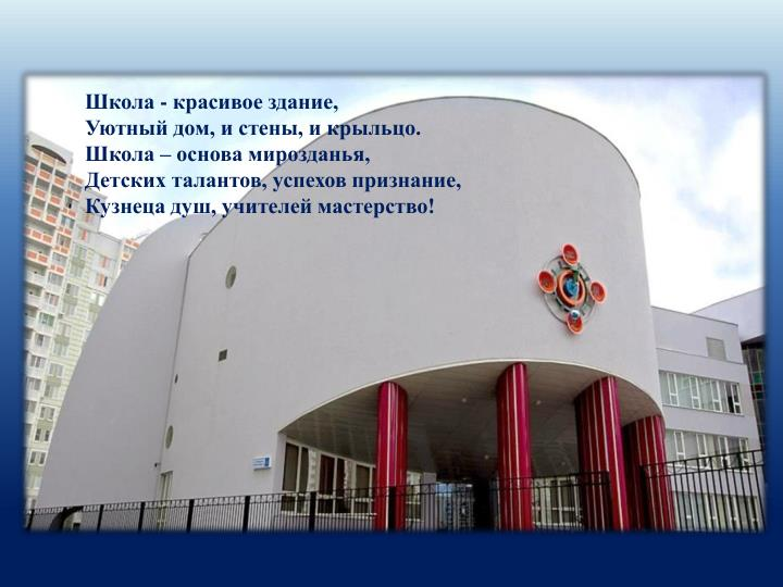 Школа - красивое здание,