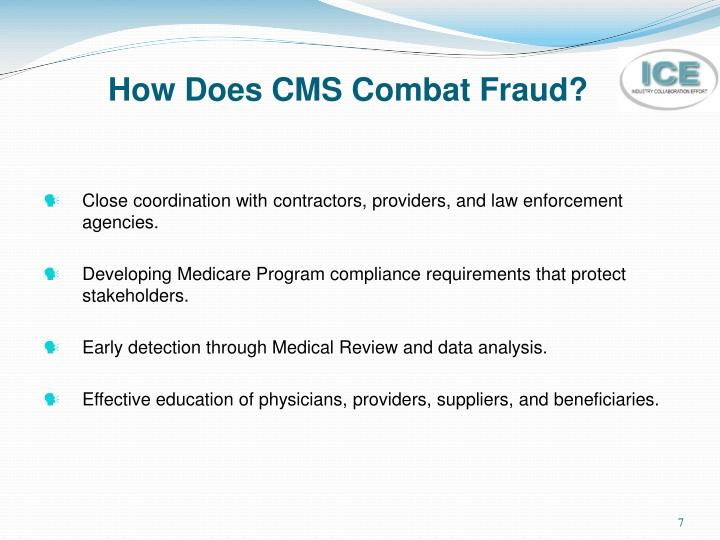 How Does CMS Combat Fraud?