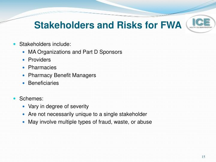 Stakeholders and Risks for FWA