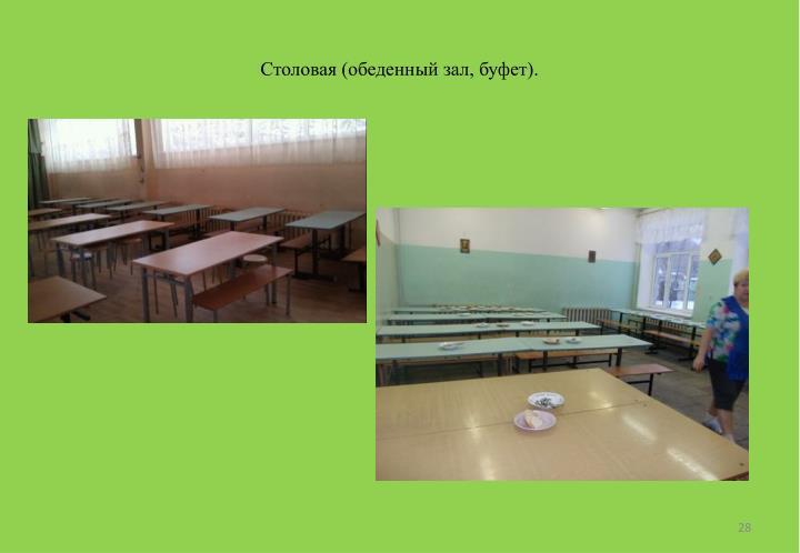 Столовая (обеденный зал, буфет).