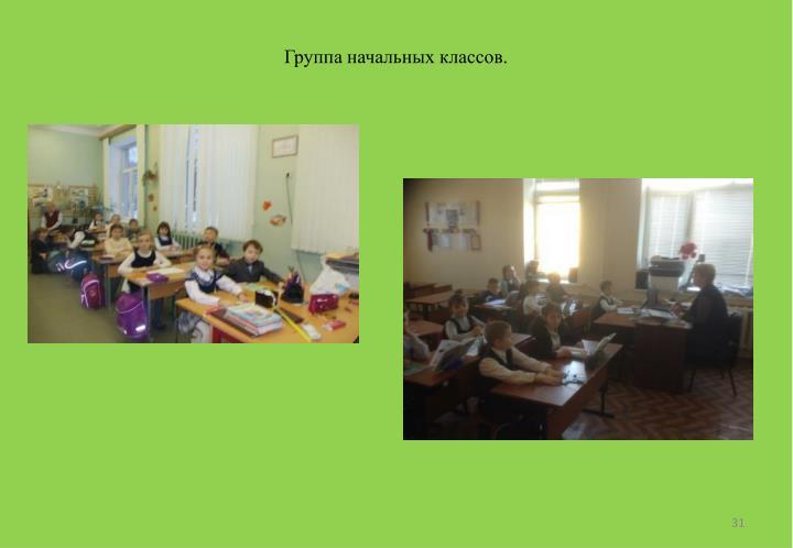 Группа начальных классов.