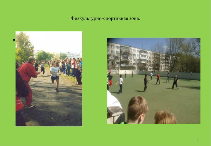 Физкультурно-спортивная зона.