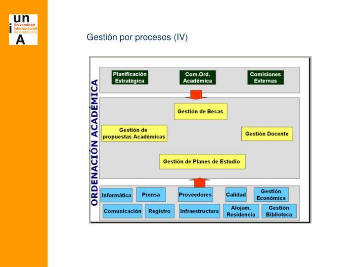 Gestión por procesos (IV)