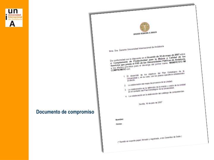 Documento de compromiso