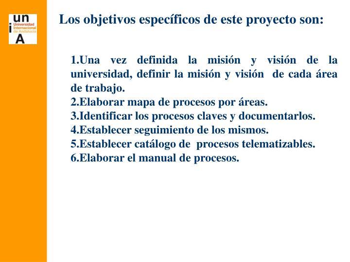 Los objetivos específicos de este proyecto son: