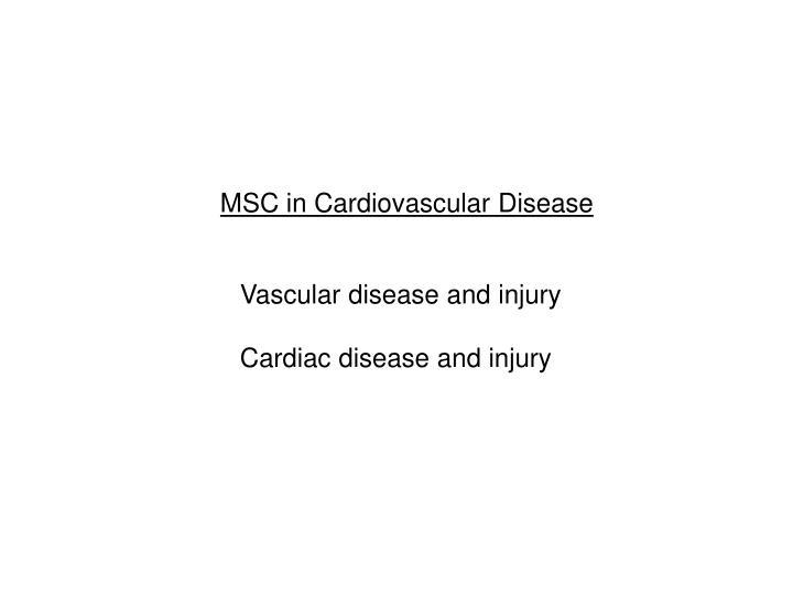 MSC in Cardiovascular Disease