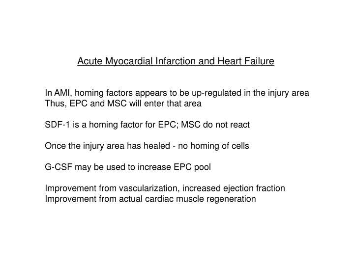 Acute Myocardial Infarction and Heart Failure