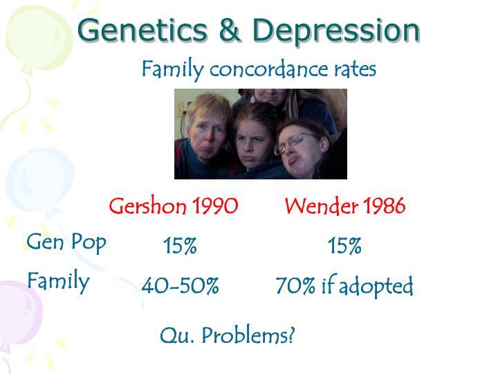 Genetics & Depression