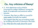 qu any criticisms of theory2