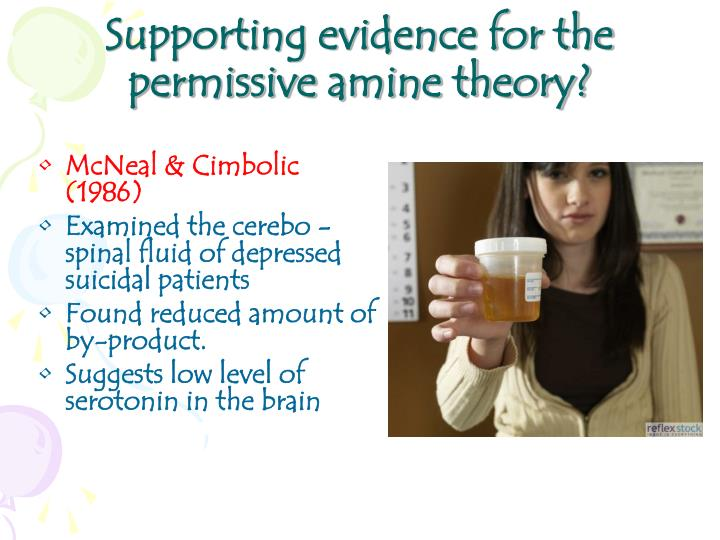 Supporting evidence for the permissive amine theory?