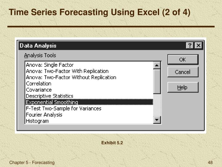 Time Series Forecasting Using Excel (2 of 4)
