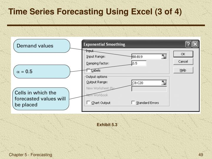 Time Series Forecasting Using Excel (3 of 4)