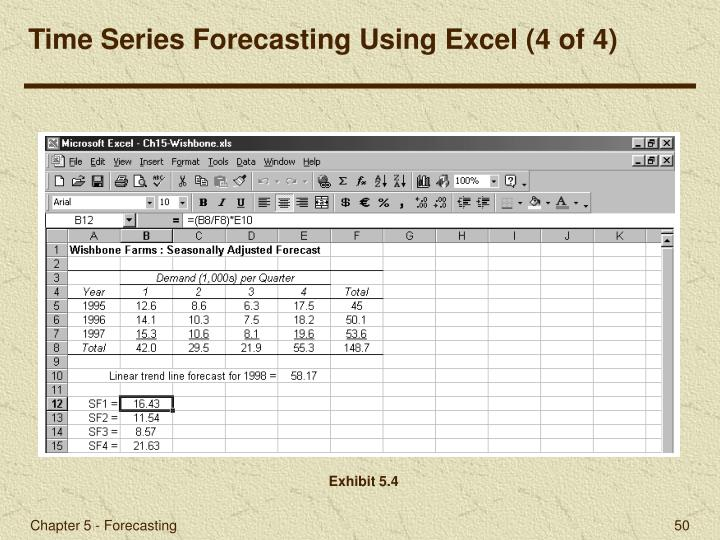 Time Series Forecasting Using Excel (4 of 4)