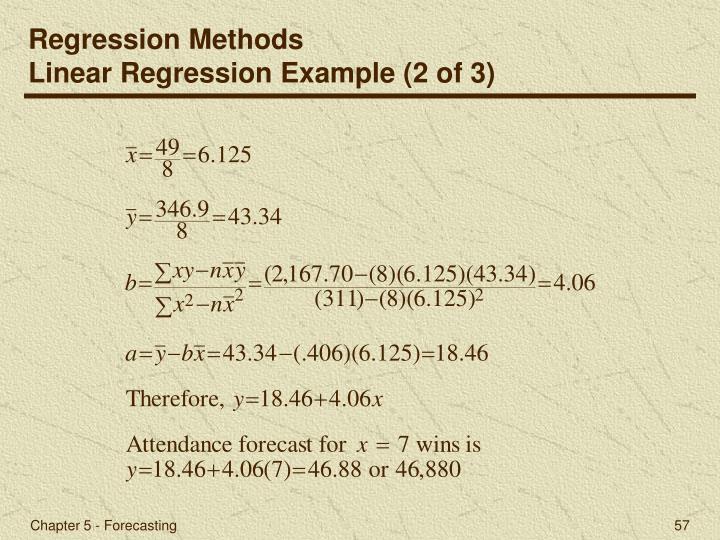 Regression Methods