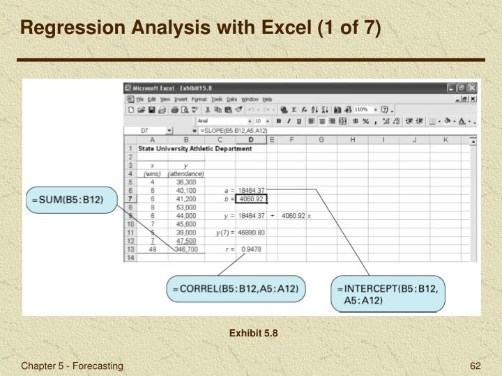 Regression Analysis with Excel (1 of 7)