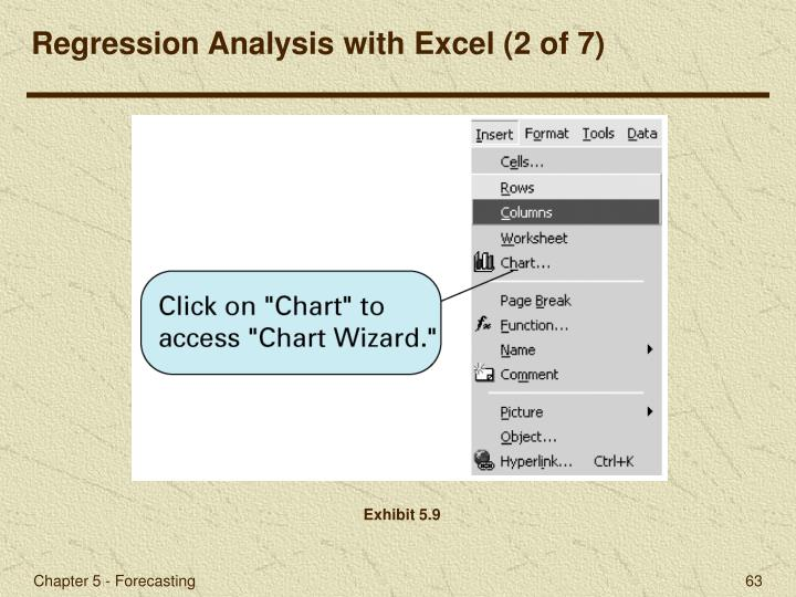 Regression Analysis with Excel (2 of 7)