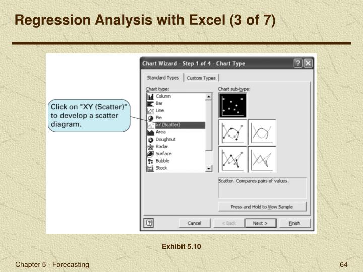 Regression Analysis with Excel (3 of 7)