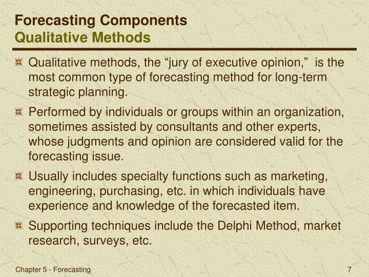 Forecasting Components