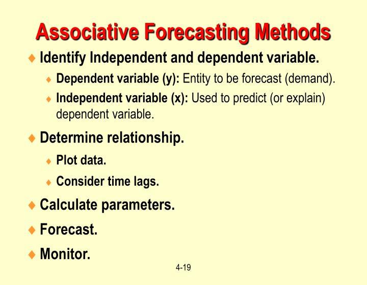 Associative Forecasting Methods