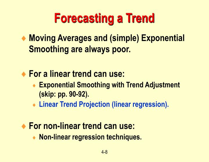 Forecasting a Trend