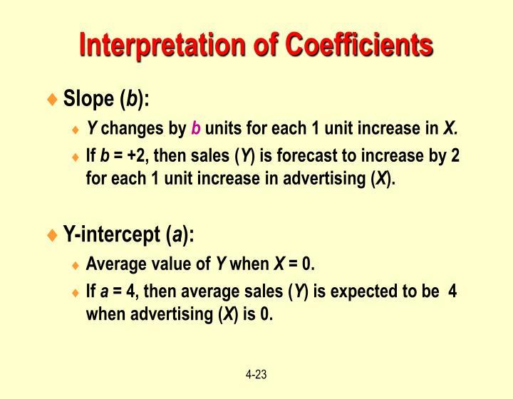 Interpretation of Coefficients