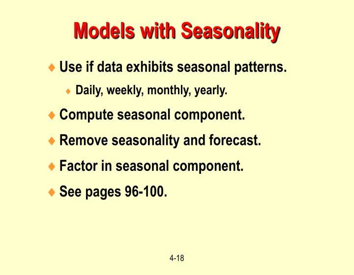 Models with Seasonality