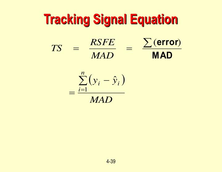 Tracking Signal Equation