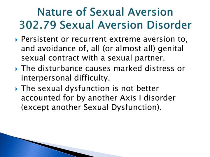 Nature of Sexual Aversion