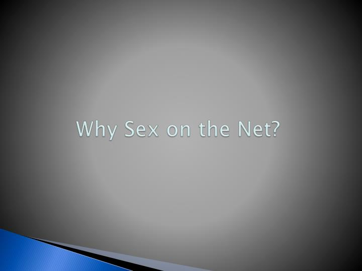 Why Sex on the Net?