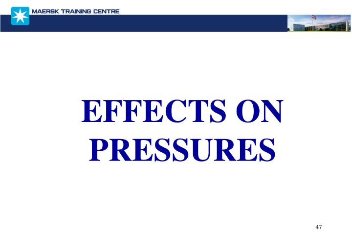 EFFECTS ON PRESSURES