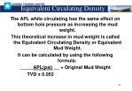 equivalent circulating density