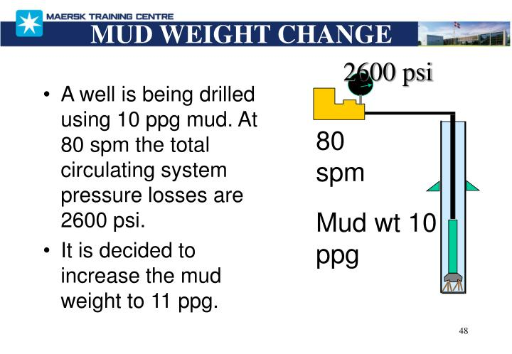 MUD WEIGHT CHANGE