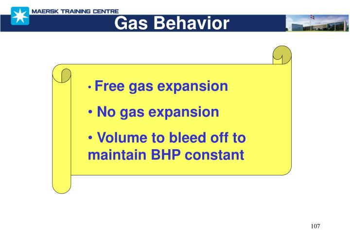 Gas Behavior