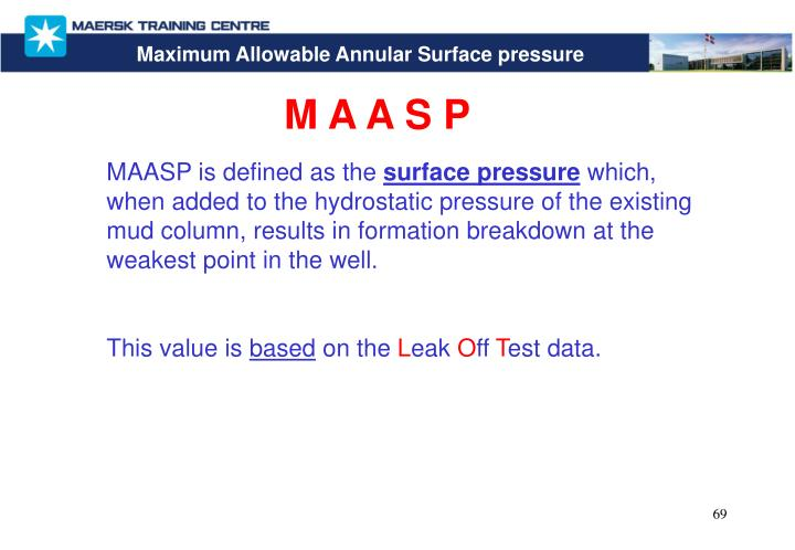 Maximum Allowable Annular Surface pressure