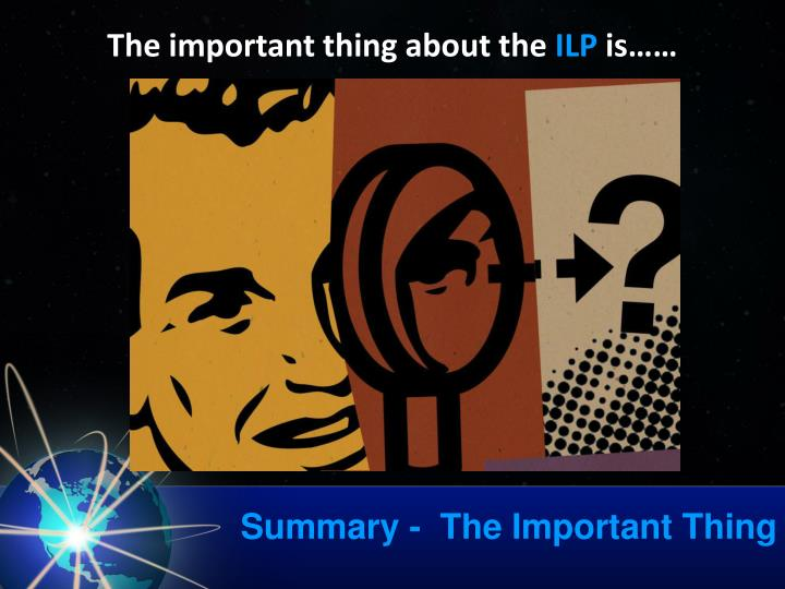Summary -  The Important Thing