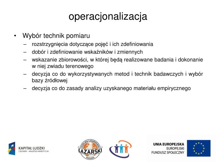 operacjonalizacja