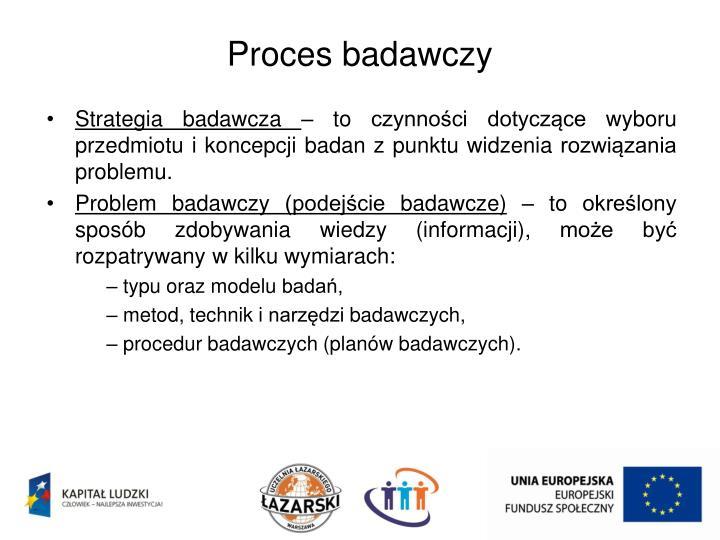 Proces badawczy